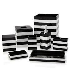 black and white bathroom accessories. Fine Black Kassatex Cabana Bath Accessories Bloomingdale S Throughout Black And White Bathroom