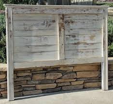 Rustic Headboard Painted and Heavy Distressed Ashton By Foo Foo La La