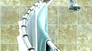 full size of curved shower curtain rod for corner bath and bed dry rods bathrooms delectable