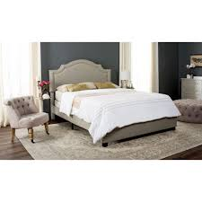 Safavieh Theron Light Grey Queen Upholstered Bed