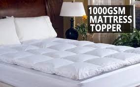 pillow top mattress pad. Bedsheets - 1000GSM Duck Feather Down Luxury Pillowtop Mattress Topper Pillow Top Pad
