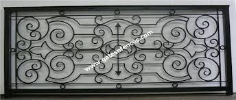 decorative railings. flor de liz railing custom design in aluminum all welded construction decorative railings