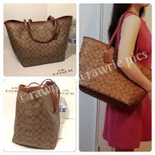 SALE New Coach large signature brown khaki tote