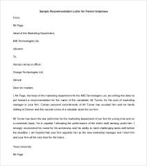 Letter Of Recommendation For Employee Sample 30 Recommendation Letter Templates Pdf Doc Free Premium