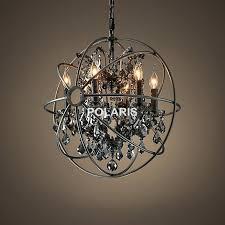 black chandelier ceiling light free vintage orb crystal lighting candle chandeliers pendant hanging f