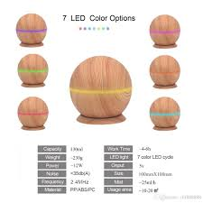 2019 wood grain ultrasonic essential oil diffuser cool moisture aroma humidifier electric air freshener with changing nightlights from chf888888