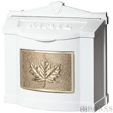 gaines white wall mount mailbox with