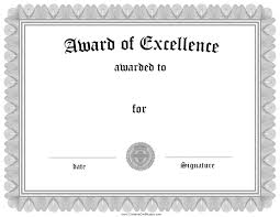 Award Of Excellence Certificate Template Award Certificate Template Art Best Of 100 Of Art Award Excellence 14
