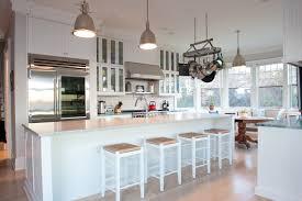 In This Coastal Kitchen Iridescent Quartz Subway Tiles Are Paired Coastal Kitchen Backsplash Ideas