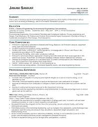 Brilliant Ideas Of Sample Resume For Environmental Engineer On