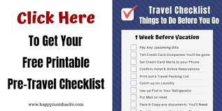 Vacation Packing Checklist Pdf Ultimate Travel Checklist Of Things To Do Before Vacation
