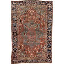 antique persian heriz carpet handmade wool oriental rug rust unique oriental rugs chicago il