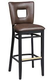 regal seating series 2426 wooden mercial counter height bar stool upholstered cut out back upholstered seat 1