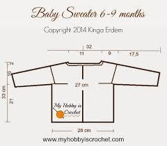 Crochet Baby Sweater Size Chart Sweater Measurements