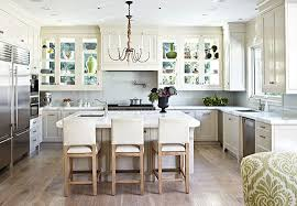 + ENLARGE. Werner Straube. Glass Front Cabinets Over Kitchen Windows. Door  Details: Glass Inserts ... Amazing Pictures