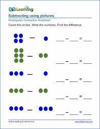 Free Preschool & Kindergarten Subtraction Worksheets - Printable ...Kindergarten subtraction worksheet