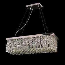 golden heritage rectangular genuine crystal glass 5 lights ceiling light pendent lamp chandelier