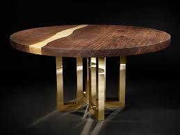 round custom walnut table il pezzo 6 round table by il pezzo mancante