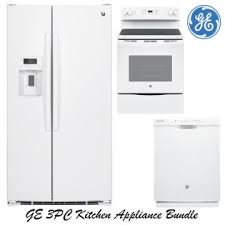 Small white kitchens with white appliances Old Cabinet Painted Ge 3piece White Kitchen Appliance Package Luthersales Appliance Bundle Packages Buy Now Pay Later Financing Bad Credit
