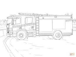 Fire Truck Coloring Page Free Printable Pages Within Firetruck