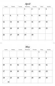 Template Monthly Calendar 2015 April May 2015 Calendar Template Free Stock Photo Public