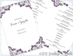 Free Microsoft Word Wedding Program Template Microsoft Word Program Template