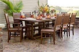amish made outdoor dining tables
