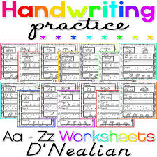 Handwriting Practice A-Z NO PREP Print and Go D'Nealian Manuscript ...