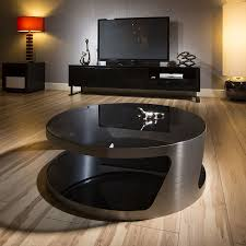 modern designer large round coffee table glass top stainless steel 106 quatropi