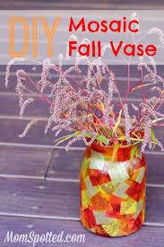 diy mosaic fall vase funcraftswithmom modgepodge homedecor craft diy momspotted