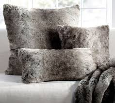 gray faux fur throw. Exellent Throw Faux Fur Throws And Pillows Pillow Cover Gray Ombre Pottery Barn On Throw