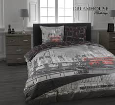 total fab black and white teen bedding city skyline with color splash teen girl