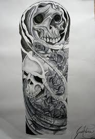 эскиз татуировки с черепом на пол руки эскизы татуировок