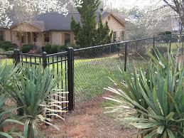 residential chain link chain link fences mcdonough ga fence co black chain