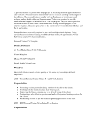 Beginner Personal Trainer Resume Free For Download Personal Trainer