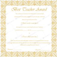 Best Teacher Award Template Best Teacher Award 11 Best Teacher Award Certificate Templates
