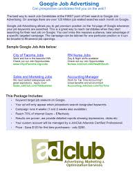 ad club recruitment advertising immigration ads and job posting search engine marketing