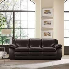zanna dark brown leather sofa