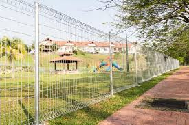 wire fence styles. Exellent Wire Stainless Steel Security Fencing In Residential Neighborhood On Wire Fence Styles E