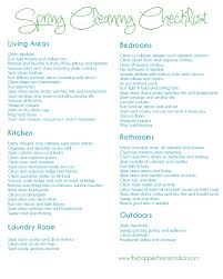 Free Printable Spring Cleaning Checklist Two Designs To