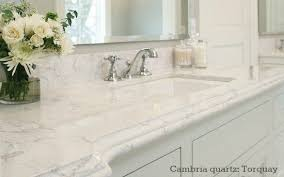 carrara marble countertop. Cambria Quartz Bathroom Countertop Looks Like Carrara Marble - Color Torquay
