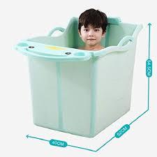 baby bathtub children s bath bucket rectangle plastic collapsible bathtub bathing b07g3ztr5x