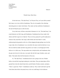 characterization essay doc juliesimanskywritingfolder weekly essay short story josiematsonwritingfolder
