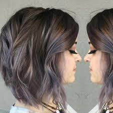 Subtle Blue Highlights Subtle Blue Highlights In Brunette Hair Color Achieved By Aveda
