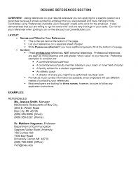 examples of resume references resume template example references in resume