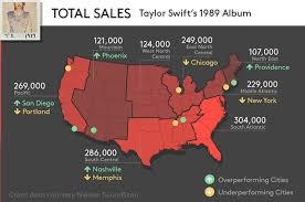 Taylor Swifts America See 1989 Album Sales By Region