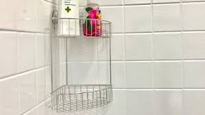 tension pole shower caddy rust proof large size of rust proof corner pole tension bronze and