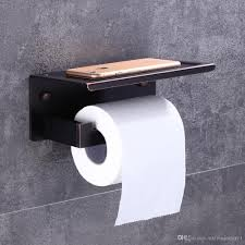 2019 oil rubbed bronze toilet paper holder waterproof cover wall mount tissue bar shelf storage holder from rozinsanitary1 110 56 dhgate com