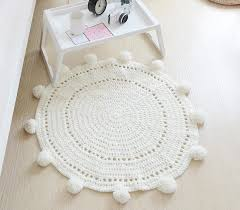 hot hand woven rug baby pad crochet hand woven ball carpet knitting wool blankets shooting props game mat 80x80cm plush carpet tiles rug from
