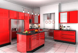 Contemporary Kitchens Red